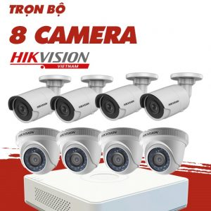 Trọn gói 8: Bộ 8 Camera + Ổ cứng + Đầu ghi 8 kênh