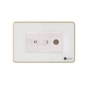 LUMI -Luxury ổ tivi, mạng/điện thoại (LM-LED) Trắng & Đen