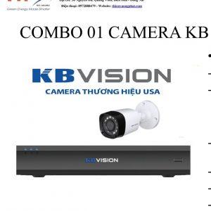 COMBO 01 CAMERA KB VISION 1MP TỰ LẮP ĐẶT