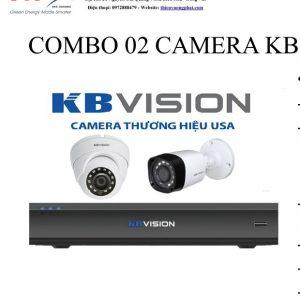 COMBO 02 CAMERA KB VISION 1MP TỰ LẮP ĐẶT