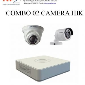 COMBO 02 CAMERA HIK VISION 1MP TỰ LẮP ĐẶT