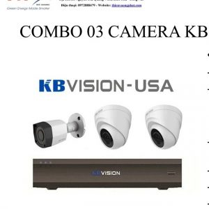 COMBO 03 CAMERA KB VISION 1MP TỰ LẮP ĐẶT