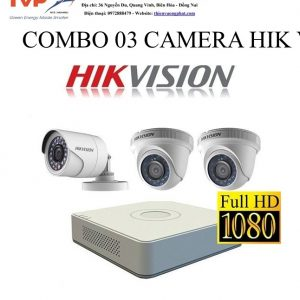 COMBO 03 CAMERA HIK VISION 1MP TỰ LẮP ĐẶT