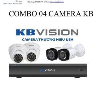 COMBO 04 CAMERA KB VISION 1MP TỰ LẮP ĐẶT