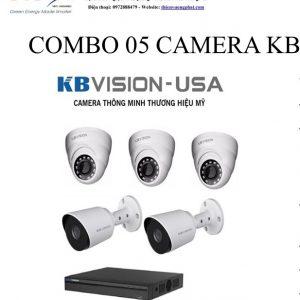 COMBO 05 CAMERA KB VISION 1MP TỰ LẮP ĐẶT