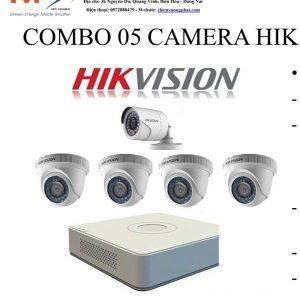 COMBO 05 CAMERA HIK VISION 1MP TỰ LẮP ĐẶT