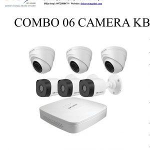 COMBO 06 CAMERA KB VISION 1MP TỰ LẮP ĐẶT