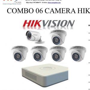 COMBO 06 CAMERA HIK VISION 1MP TỰ LẮP ĐẶT
