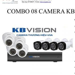 COMBO 08 CAMERA KB VISION 1MP TỰ LẮP ĐẶT