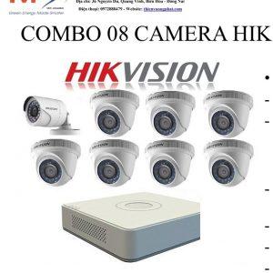 COMBO 08 CAMERA HIK VISION 1MP TỰ LẮP ĐẶT